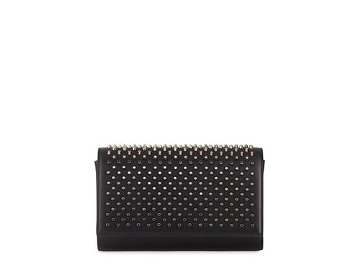 e8103f302af Christian Louboutin Paloma Fold-over Spike Clutch Bag in Black - Save 44% -  Lyst