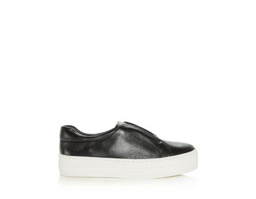 5d7690c1ec9b8 J/Slides Women's Heidi Leather Slip - On Platform Sneakers in Black - Lyst