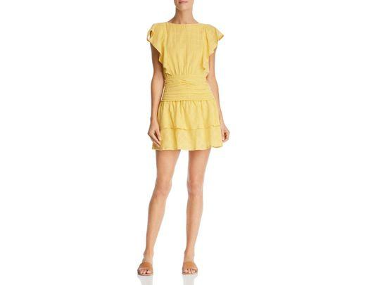 b867eb30b638 Suboo Morning Light Ruffled Mini Dress in Yellow - Lyst