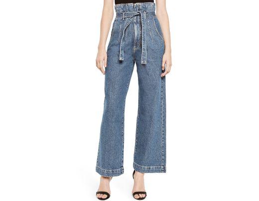 1d7fd7ef82 Bardot Paperbag Wide Leg Jeans in Blue - Save 61% - Lyst