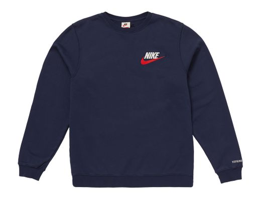 585a4cc2 Supreme Nike Crewneck Navy in Blue for Men - Lyst