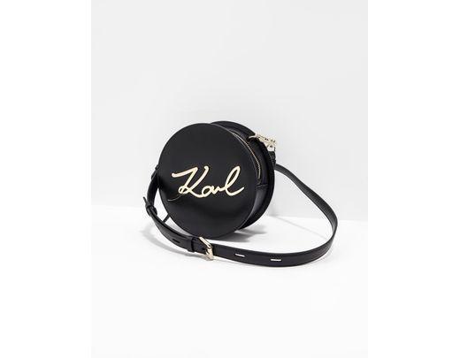 dea54f057f9039 Lyst - Karl Lagerfeld K/metal Signature Leather Shoulder Bag in ...