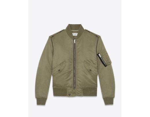 267f8c00dde Saint Laurent Bomber Jacket In Nylon in Green for Men - Save 31% - Lyst