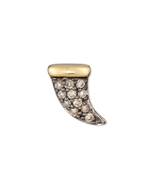 Sydney Evan   Metallic Champagne Diamond Mini Horn Single Stud Earring   Lyst
