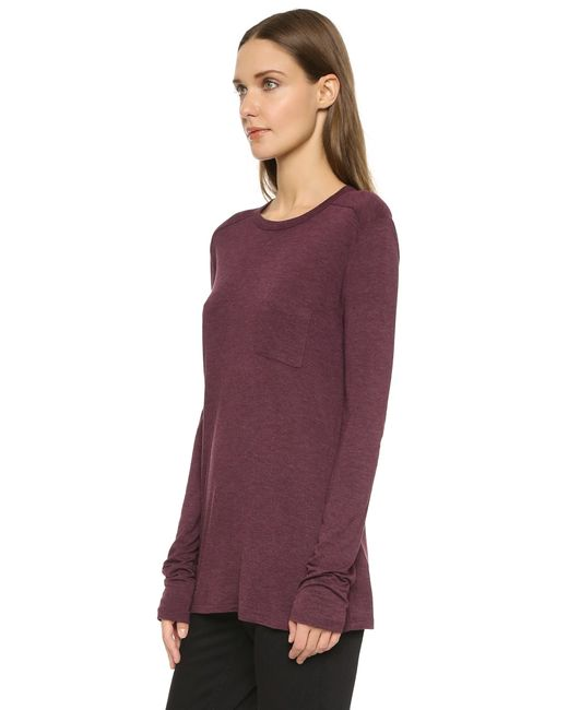 T By Alexander Wang | Purple Classic Pocket Pullover - Lichen | Lyst