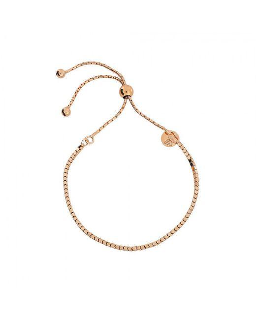 Azendi | Metallic Rose Box Chain Adjustable Bracelet | Lyst