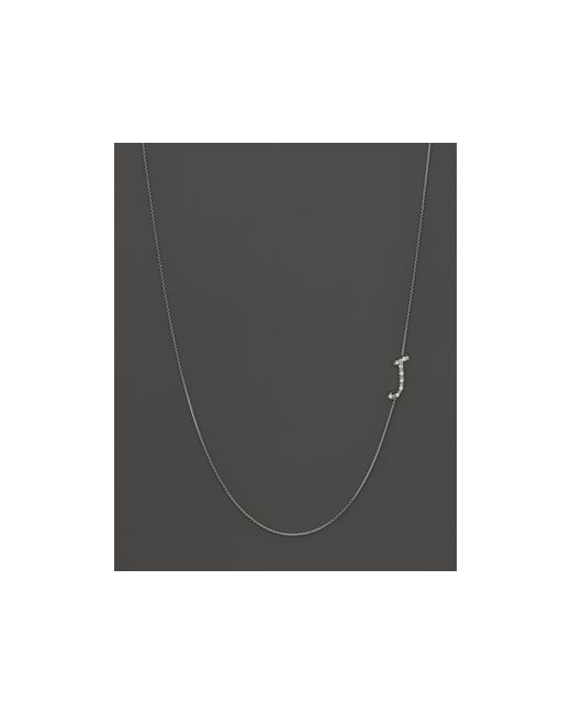 KC Designs | Metallic Diamond Side Initial J Necklace In 14k White Gold, .05 Ct. T.w. | Lyst