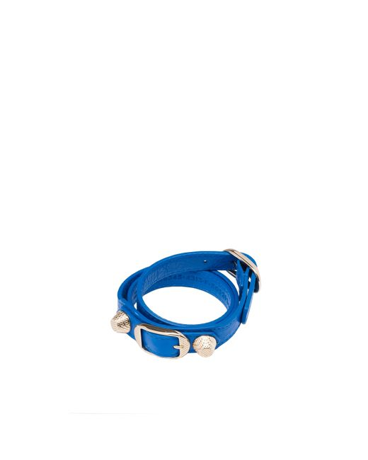 Balenciaga | Blue Giant Gold Bracelet Triple Tour | Lyst
