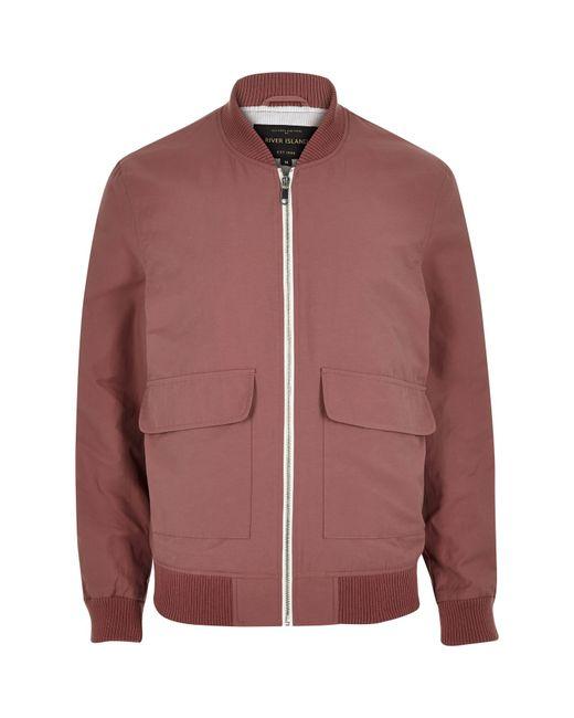 River Island Pink Bomber Jacket In Pink For Men Save 50