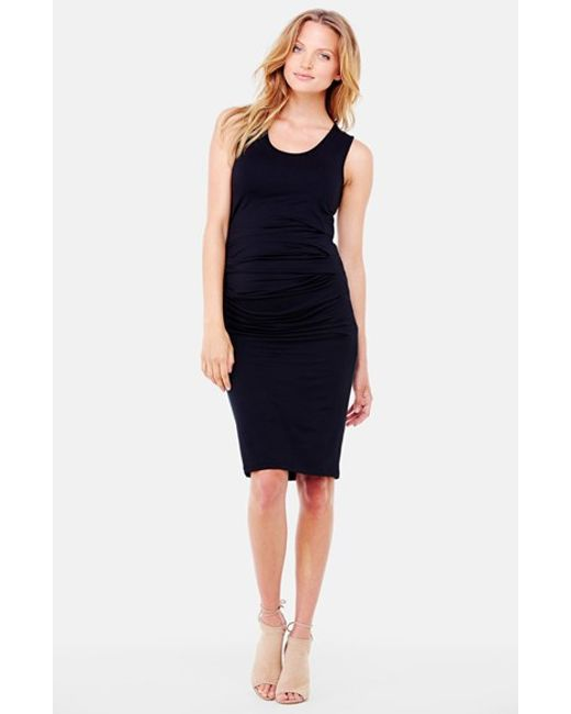Ingrid & Isabel | Black Ingrid & Isabel Ruched Maternity Tank Dress | Lyst
