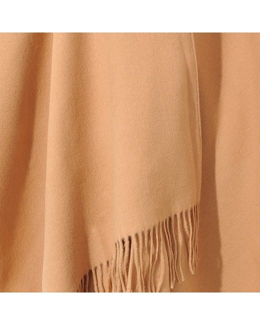 Acne Apolo Fringe Shawl In Brown Lyst