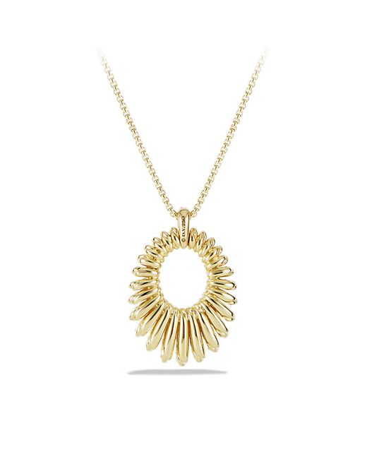 David Yurman | Metallic Tempo Pendant Necklace With Diamonds In 18k Gold | Lyst