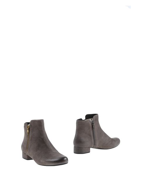vagabond ankle boots in gray grey save 45 lyst. Black Bedroom Furniture Sets. Home Design Ideas