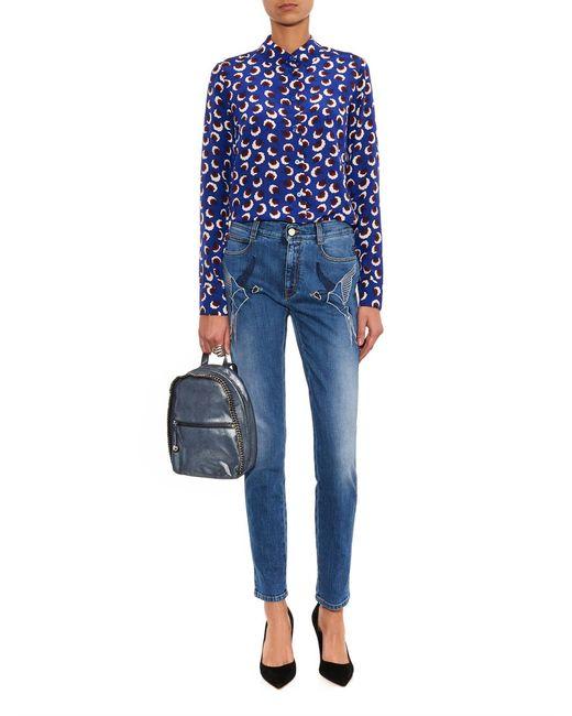 Stella McCartney   Blue 'Falabella' Backpack   Lyst
