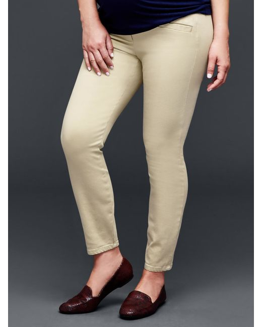 Gap | Beige Full Panel Ultra Skinny Khaki | Lyst