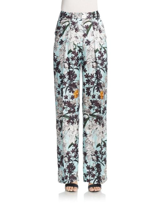 MSGM | Blue Casual Pants | Lyst