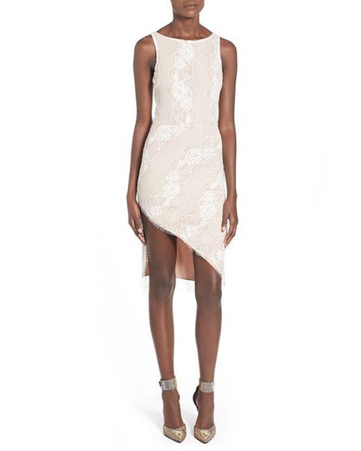 4si3nna | White Lace Body-con Dress | Lyst