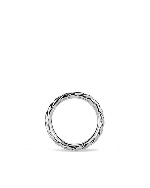 David Yurman | Metallic Cable Narrow Band Ring for Men | Lyst