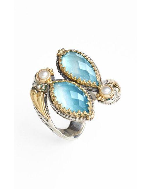 Konstantino | Metallic 'amphitrite' Pearl & Semiprecious Stone Cluster Ring | Lyst