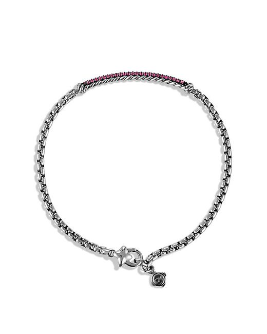 David Yurman | Metallic Petite Pavé Bar Metro Bracelet With Pink Sapphires | Lyst