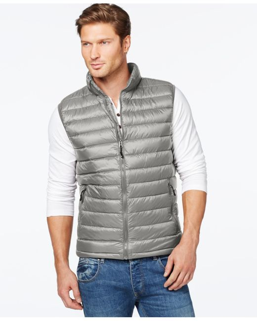 32 Degrees | Metallic Packable Down Vest for Men | Lyst