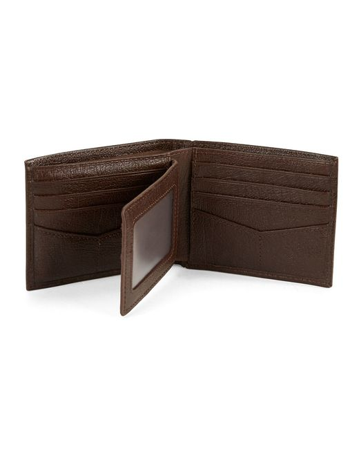Fossil | Brown Omega Passcase Leather Wallet for Men | Lyst