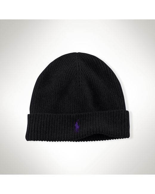 Polo Ralph Lauren | Black Merino Wool Hat for Men | Lyst