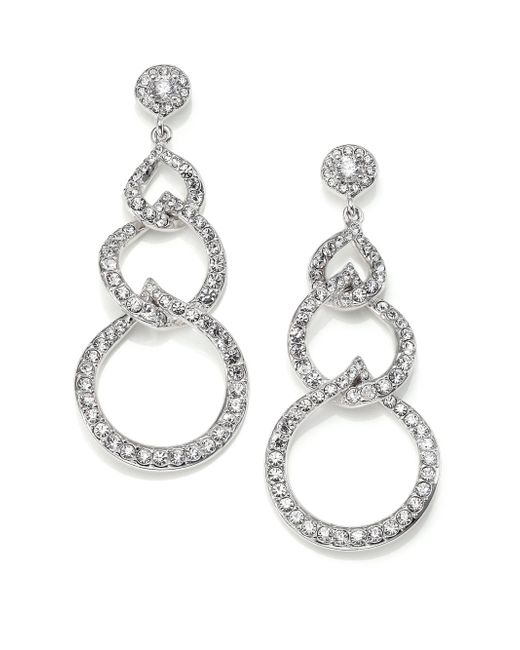Adriana Orsini | Metallic Pave Hoop Earrings/1.4 | Lyst