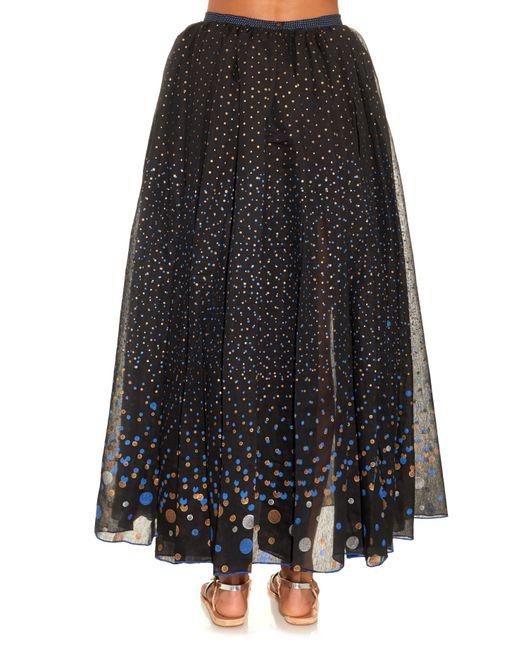 Thierry Colson | Black Grisette Polka-dot Midi Skirt | Lyst