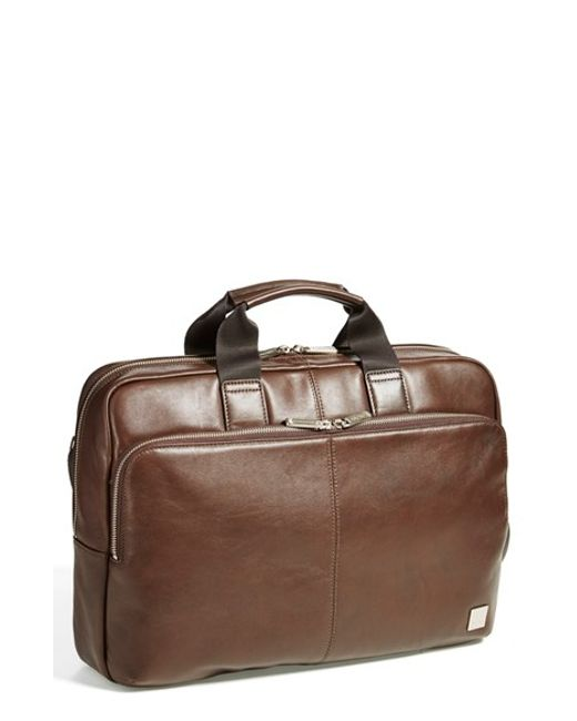 Knomo | Brown 'newbury' Briefcase for Men | Lyst
