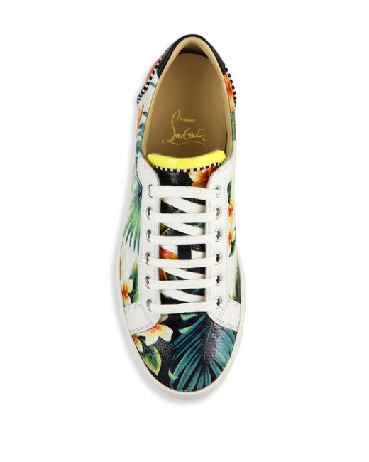 christian louboutin knockoffs cheap - Christian louboutin Seava Hawaaii-print Leather Sneakers in ...