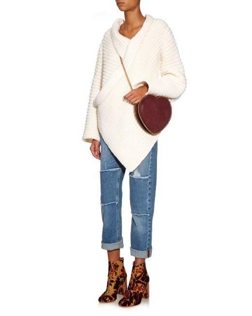 Stella Mccartney Heart Falabella Faux Suede Cross Body Bag