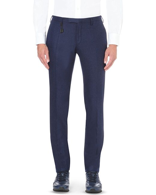 Slowear | Blue Slim-fit Wool Trousers for Men | Lyst
