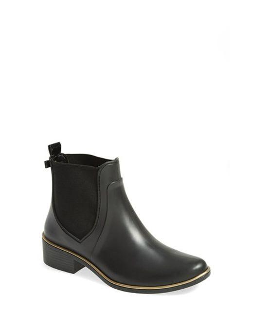 Kate Spade Sedgewick Rubber Rain Boot In Black  Lyst-4465