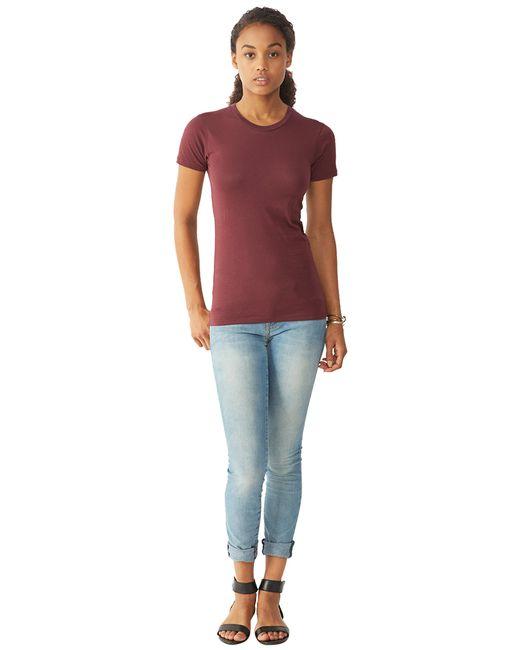 Alternative Apparel | Purple Basic Womens Crew T-shirt | Lyst