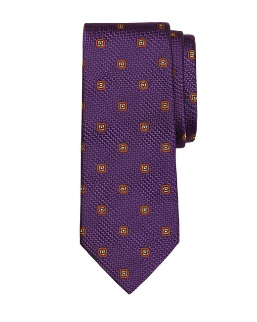 Brooks Brothers | Purple Spaced Square Tie for Men | Lyst