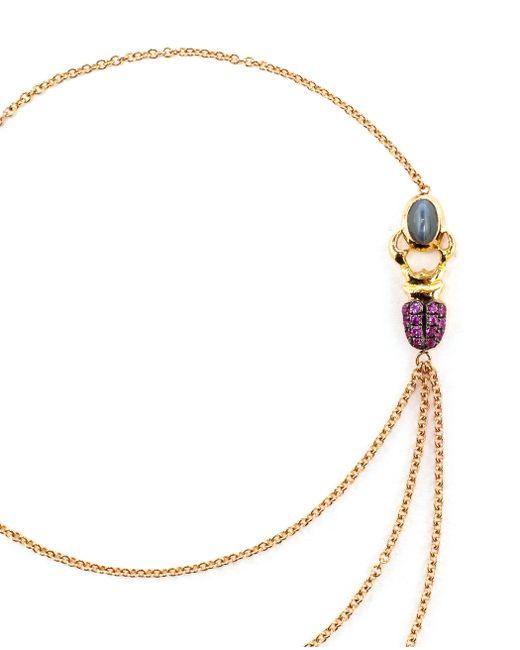 Daniela Villegas | Green 18k Yellow Gold Sapphire & Emerald Khepri Bracelet | Lyst