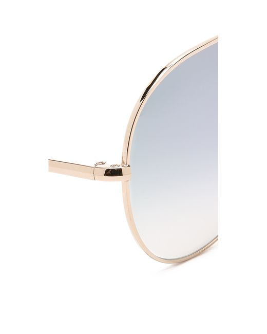 Oliver Peoples | Metallic Sayer Sunglasses | Lyst