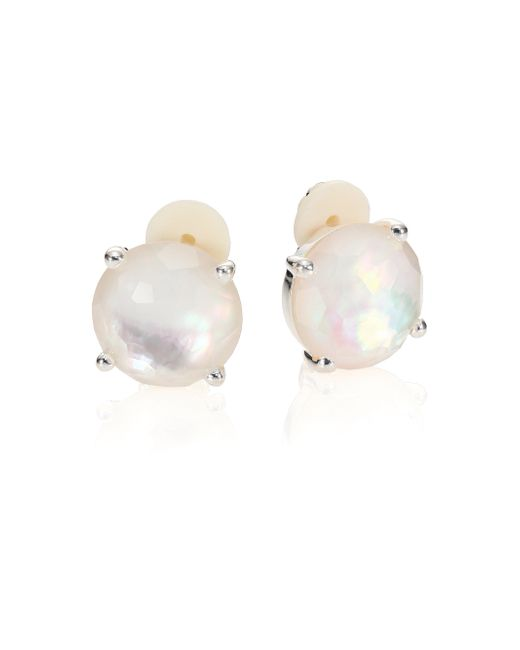 Ippolita | White Rock Candy Mother-of-pearl, Clear Quartz & Sterling Silver Stud Earrings | Lyst