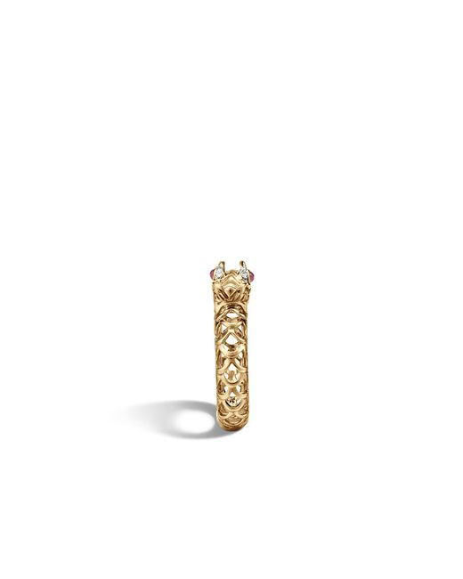 John Hardy | Metallic Naga Ring With Diamonds | Lyst