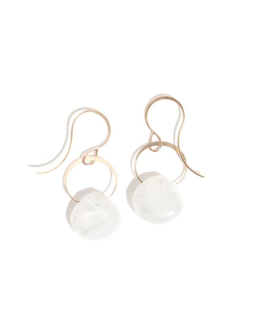 Melissa Joy Manning | Metallic Single Drop Rainbow Moonstone Earring | Lyst