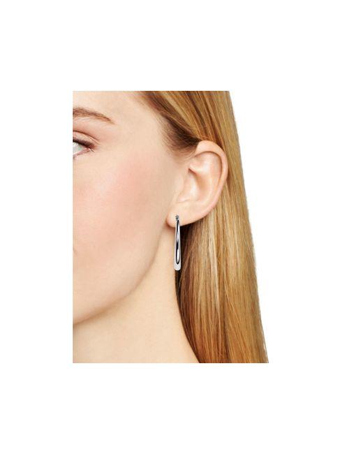 Pink Pony | Metallic Lauren Hoop Earrings | Lyst
