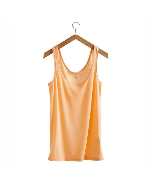 Petit Bateau | Orange Women's Light Cotton Tank Top | Lyst