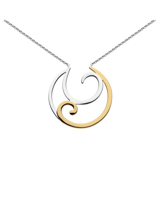 Kit Heath | Metallic Crescent Gold Plated Necklace | Lyst