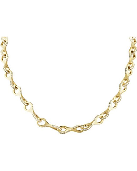 Georg Jensen | Dune 18ct Yellow-gold And Brilliant-cut Diamond Necklace | Lyst