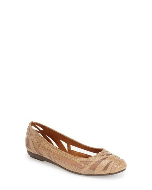J. Reneé | Brown 'Tabetha' Laser Cutout Ballet Flat | Lyst