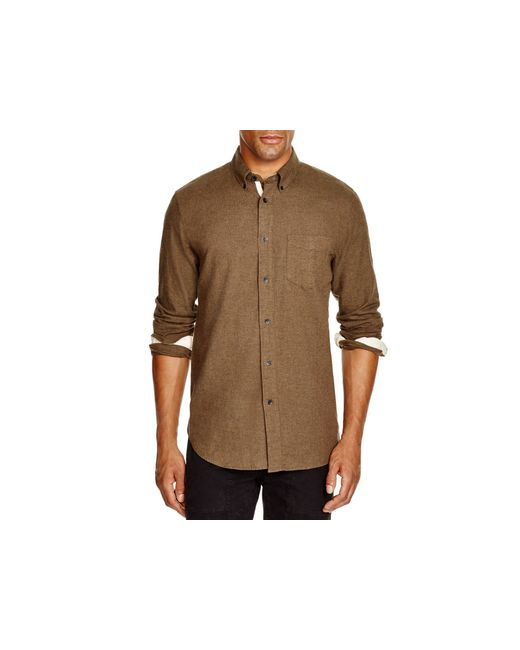 Rag & Bone | Brown Lightweight Flannel Regular Fit Button Down Shirt for Men | Lyst
