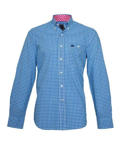 Raging Bull | Blue Signature Gingham Long Sleeve Button Down Shirt for Men | Lyst
