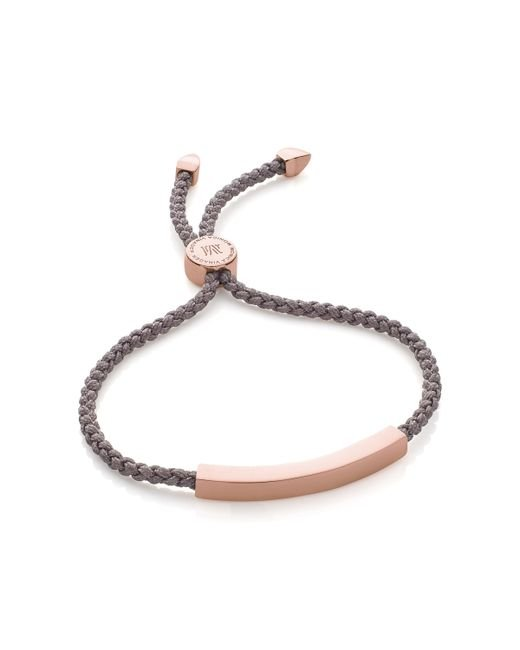 Monica Vinader | Metallic Linear Friendship Bracelet | Lyst