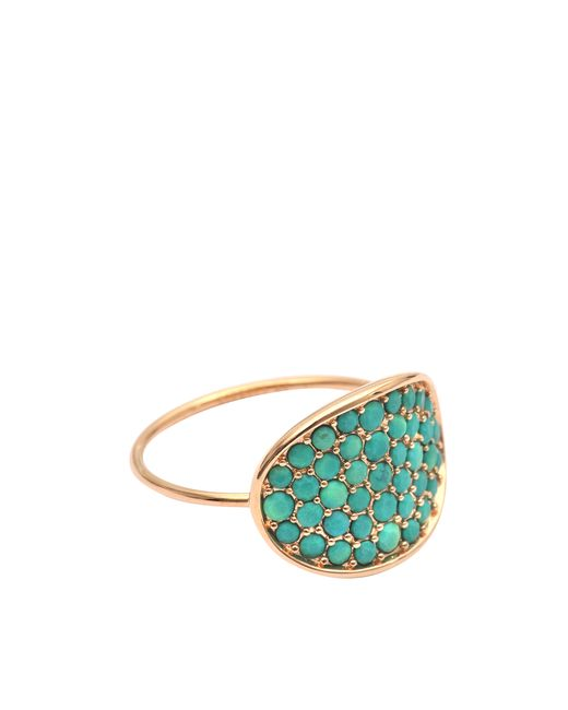 Ginette NY | Green Single Diamond Choker Ring | Lyst